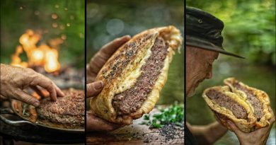 🍔ULTIMATE CHEESEBURGER PIE 🥧 – COOKING IN NATURE 🏕️